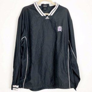 Adidas (L) NBA VINTAGE Kings Black Starter Jacket